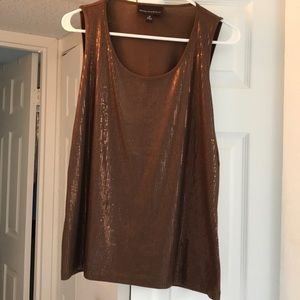 Dana Buchman Brown Sequin Sz M Tank Top